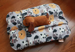 Gray dogs Bunbed with plush