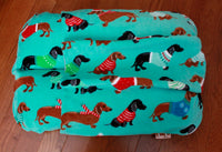 Winter Holiday Dachshund Fleece Bunbed