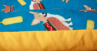 corgi mustard yellow blue bunbed