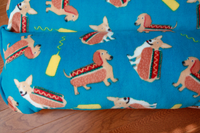dachshund corgi hot dog bed detail