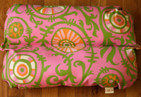 Bunbed, Pink Green Vines Tropical Hothouse, Dachshund Burrow Hot Dog Bun Bed