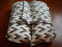 Gray Zig Zag Geometric Print, Bunbed, Dachshund Dog Bed, with COVER Burrow Snuggle Sack Pocket Small Bun Bed