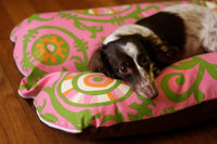 CASE ONLY Pink Green Vines Deluxe Bunbed Dog bed for Dachshunds and other small dogs