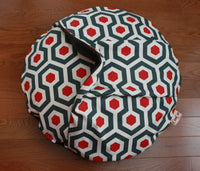 Round Dog Bed with Fleece Lined Pocket