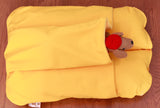 Yellow Bunbed with Dachshund Plush in Pocket