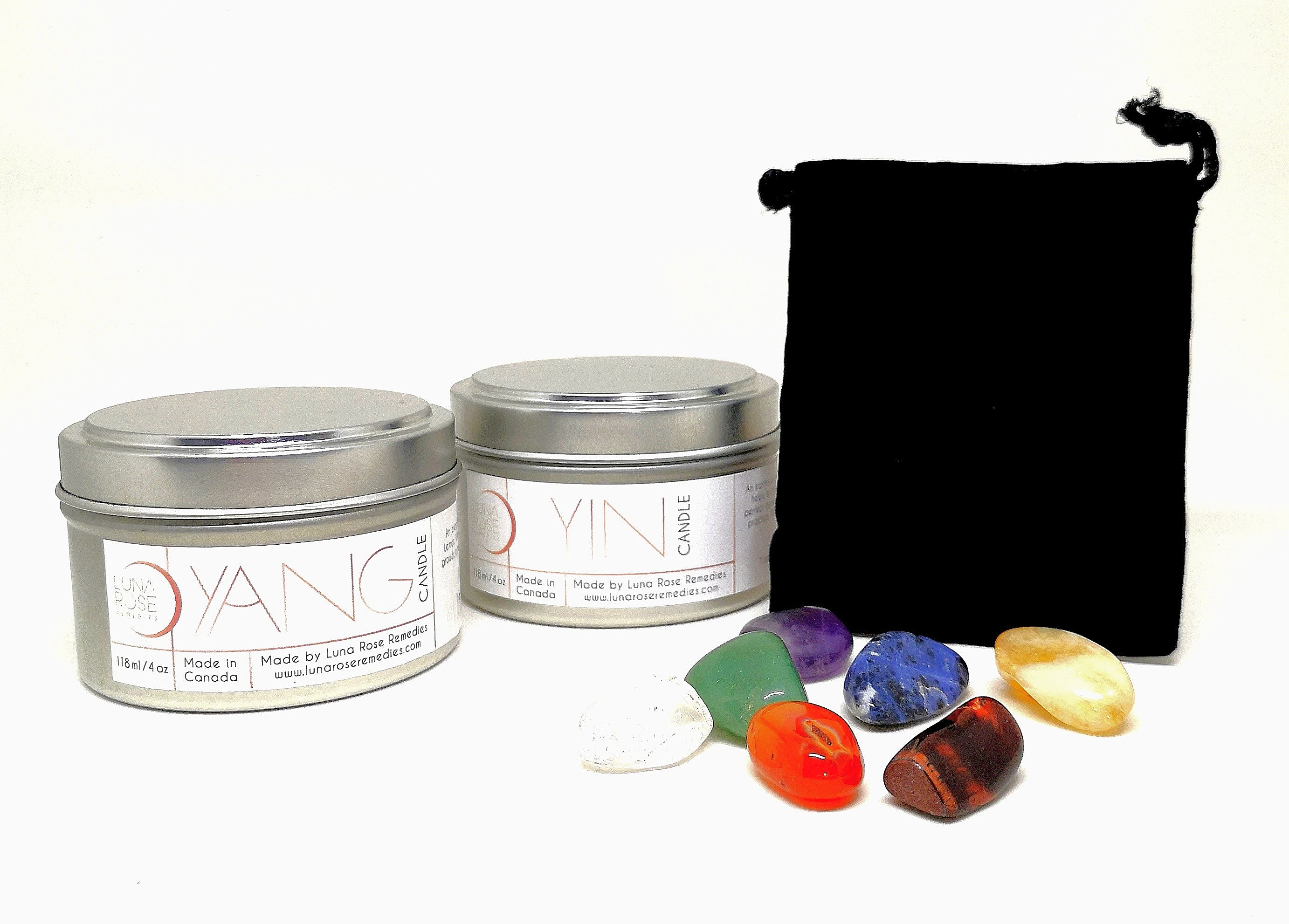 YIN & Yang Essential Oil Candle Gift Set - Luna Rose Remedies