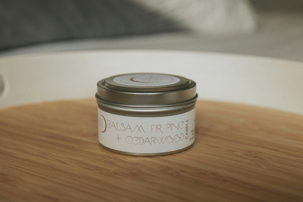 Balsam Fir, Pine & Cedarwood Essential Oil Candle - Luna Rose Remedies