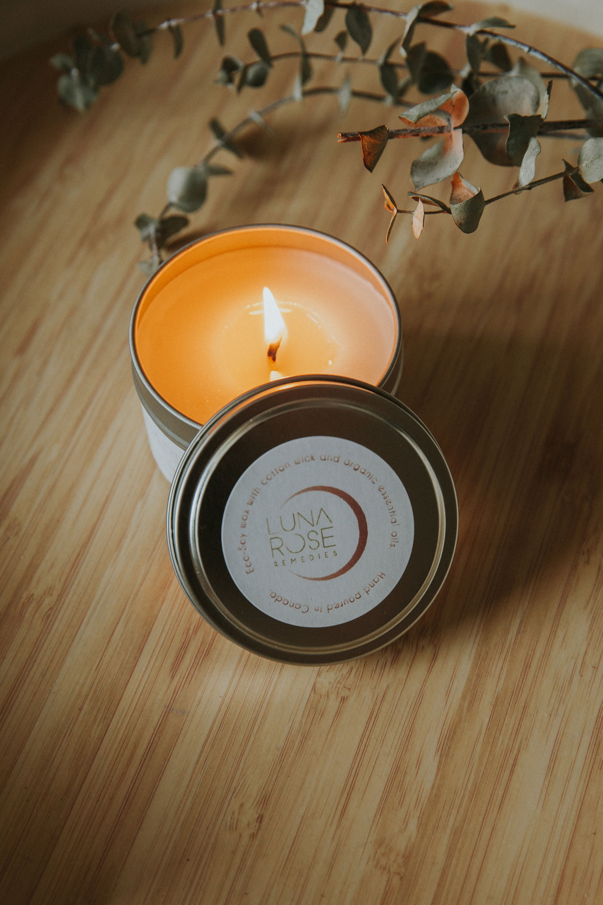YIN Essential Oil Candle - Luna Rose Remedies