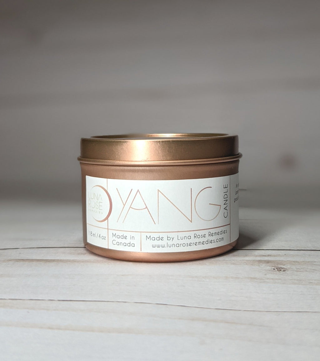 YANG Essential Oil Candle - Rose Gold Edition - Luna Rose Remedies
