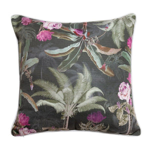 Indoor/Outdoor Cushion – Palm Tree Garden Dark - Ruby Jade Jewellery