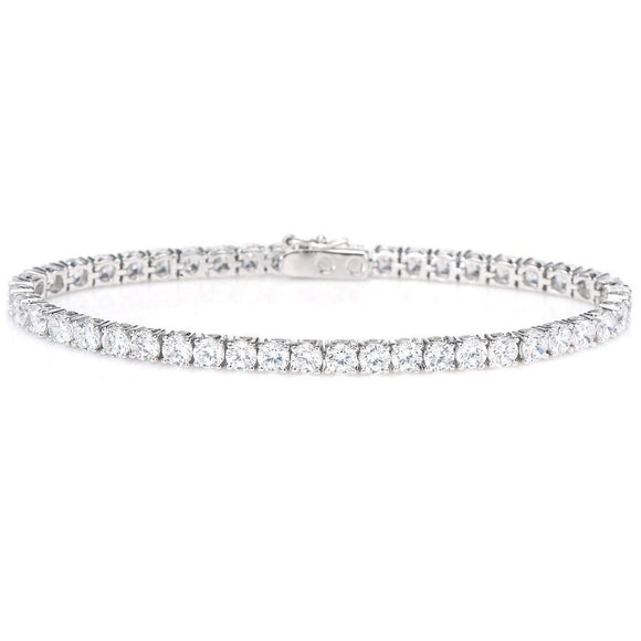 Cubic Zirconia Tennis Bracelet set in 925 Sterling Silver 21cm - Ruby Jade Jewellery