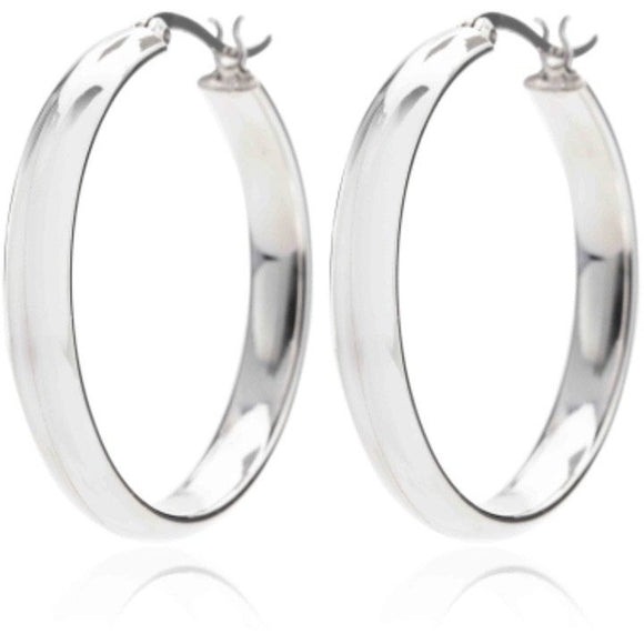 925 Sterling Silver Solid 30 mm Hoop Earrings - Ruby Jade Jewellery