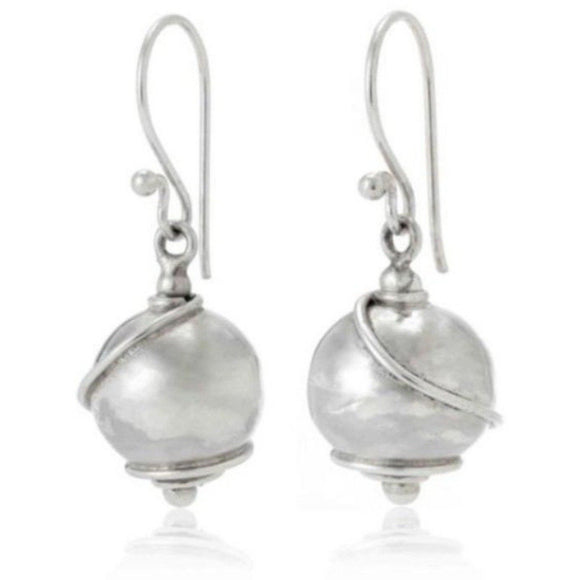 925 Sterling Silver Solid Ball Drop Earrings - RubyJade
