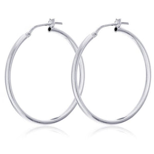 925 Sterling Silver 50mm Hoop Earrings - RubyJade