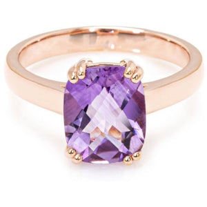 Pink Amethyst Ring set in Sterling Silver Ring (10x8mm) - Ruby Jade Jewellery