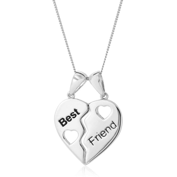 Best Friend Breakable 925 Sterling Silver Pendant - Ruby Jade Jewellery