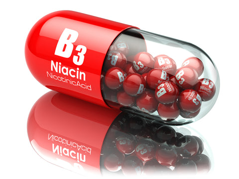 niacin pills inside large capsule