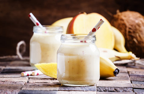 Nutty Mango-Banana Smoothie for hair growth