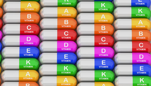 Multi vitamin colorful capsules
