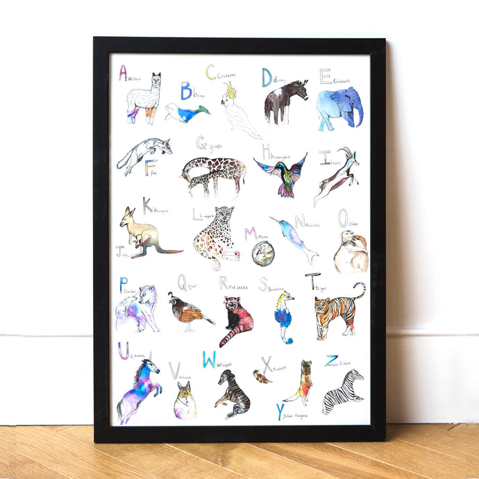 Animal Abc Art Print