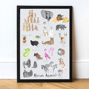 African Animals Art Print