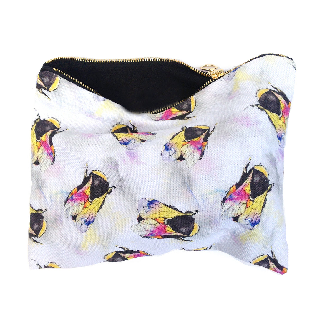 Bumble Bees Cotton Pouch