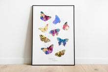 Kaleidoscope of Butterflies A4 Art Print