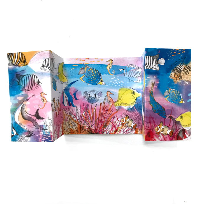Coral Reef Panorama Card