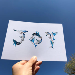 Joy Whale A5 Art Prints