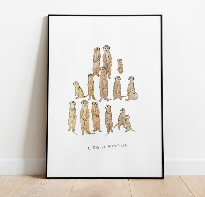 Mob of Meerkats A4 Print