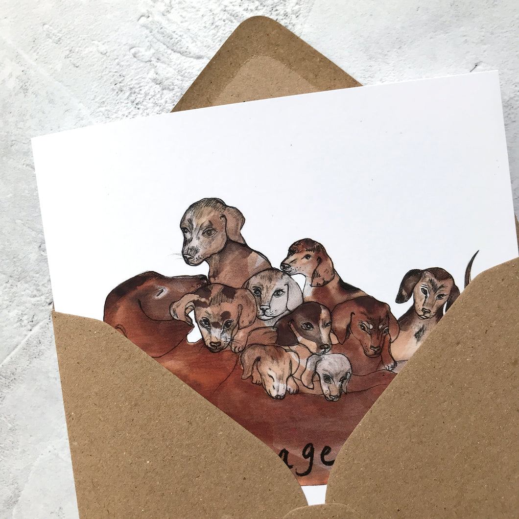 Sausage Roll Greeting Card