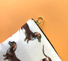 Sausage Dog Cotton Wash Bag