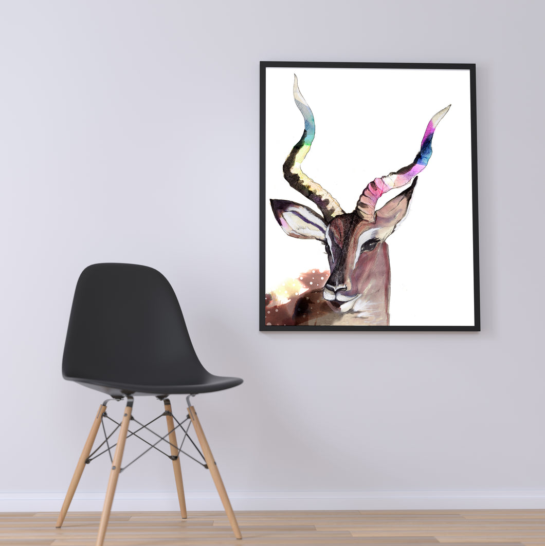Spirit Deer Art Print