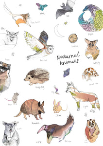 Nocturnal Animals Art Print