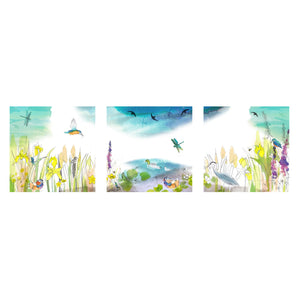 Wild Swimming Triptych Art Print