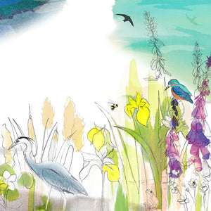 Wetlands Triptych Art Print
