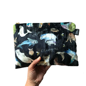 Velvet Endangered Animals Bag