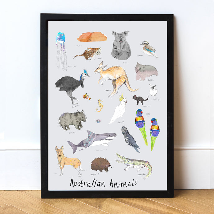 Australian Animals Art Print