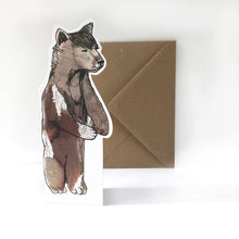 Bear Shaped Greeting Card