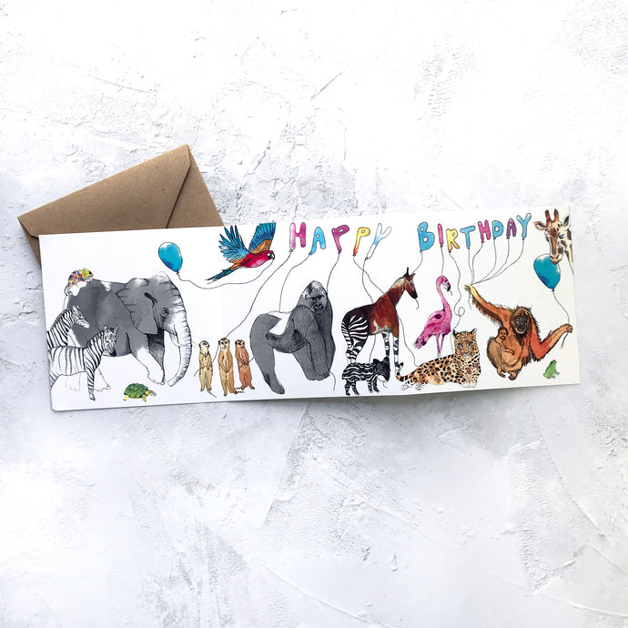 Birthday Parade Concertina Card