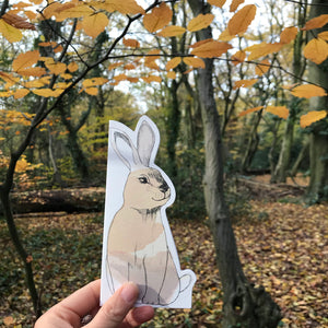 Rabbit Shaped Greeting Card