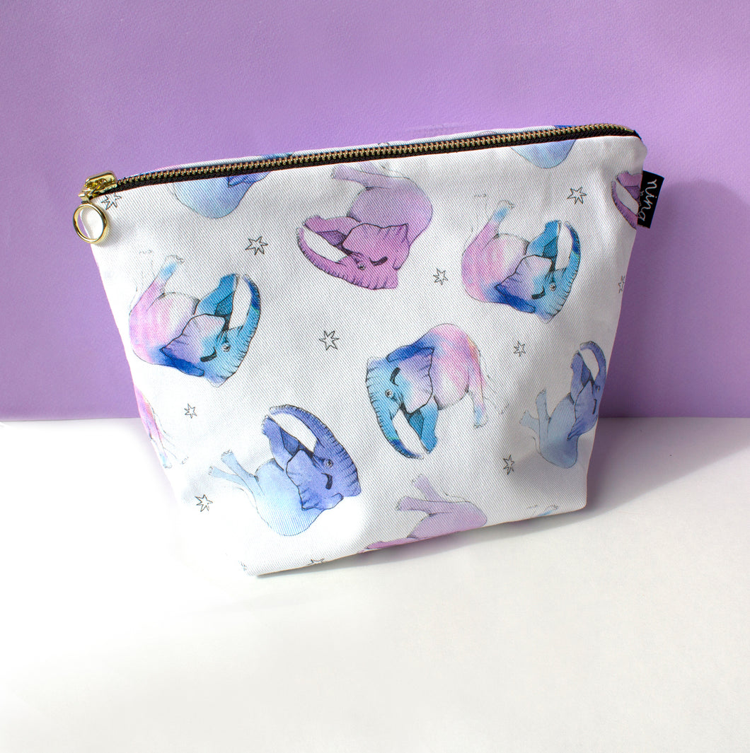 Baby Elephant print Wash Bag