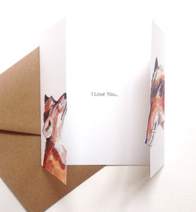 Fox Love Card