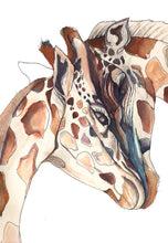 The Longest Love Giraffe Art Print