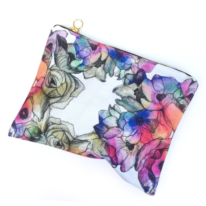 Flower Cotton Pouch