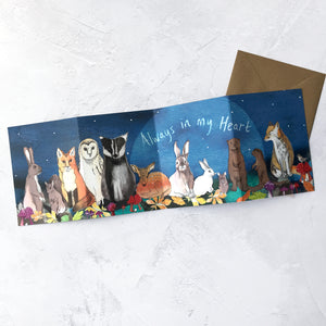Always In My Heart Panorama Card