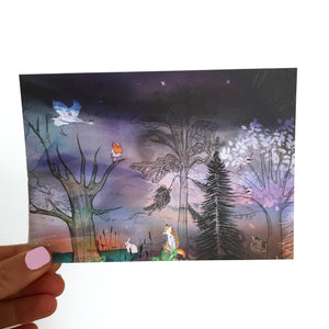 Winter Woodland Postcard Set