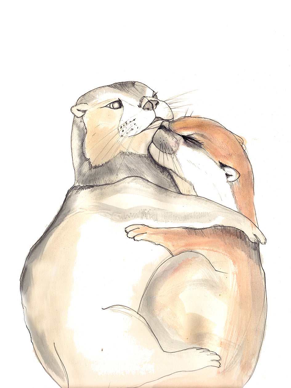 Otterly Addicted To you, Art Print