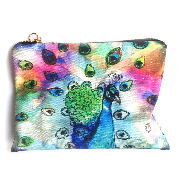 Peacock Cotton Pouch