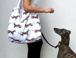 Large Sausage Dog Tote Bag